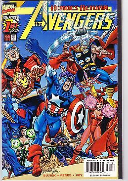 Heroes Return The Avengers 1st issue