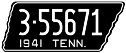 1941 Tennessee license plate