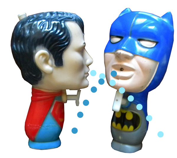 batman superman squirt guns
