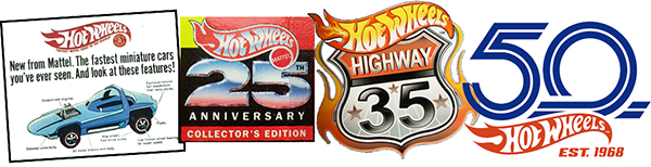 hot wheels anniversaries