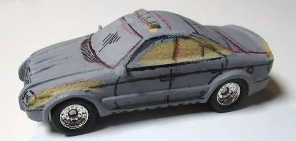 matchbox prototype police car detail