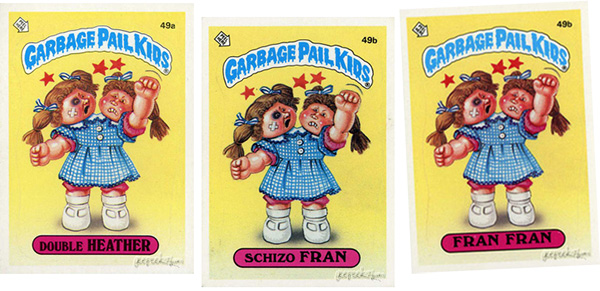 garbage pail kids list