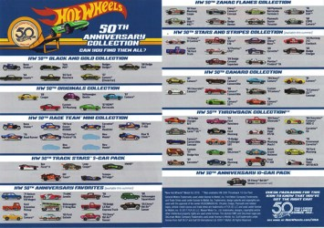 hot wheels 50th flyer