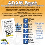 """GeePeeKay and hobbyDB Introduce: Adam Bomb Limited Edition """"Art by John Pound"""" Sticker Card"""