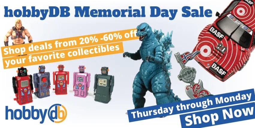 hobbyDB Memorial Sale