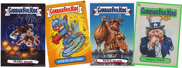 july 4 garbage pail kids