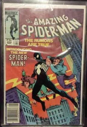 black spider man costume