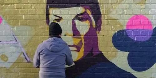star trek spock mural