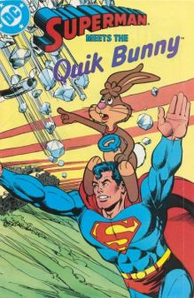 Superman Meets Quik Bunny