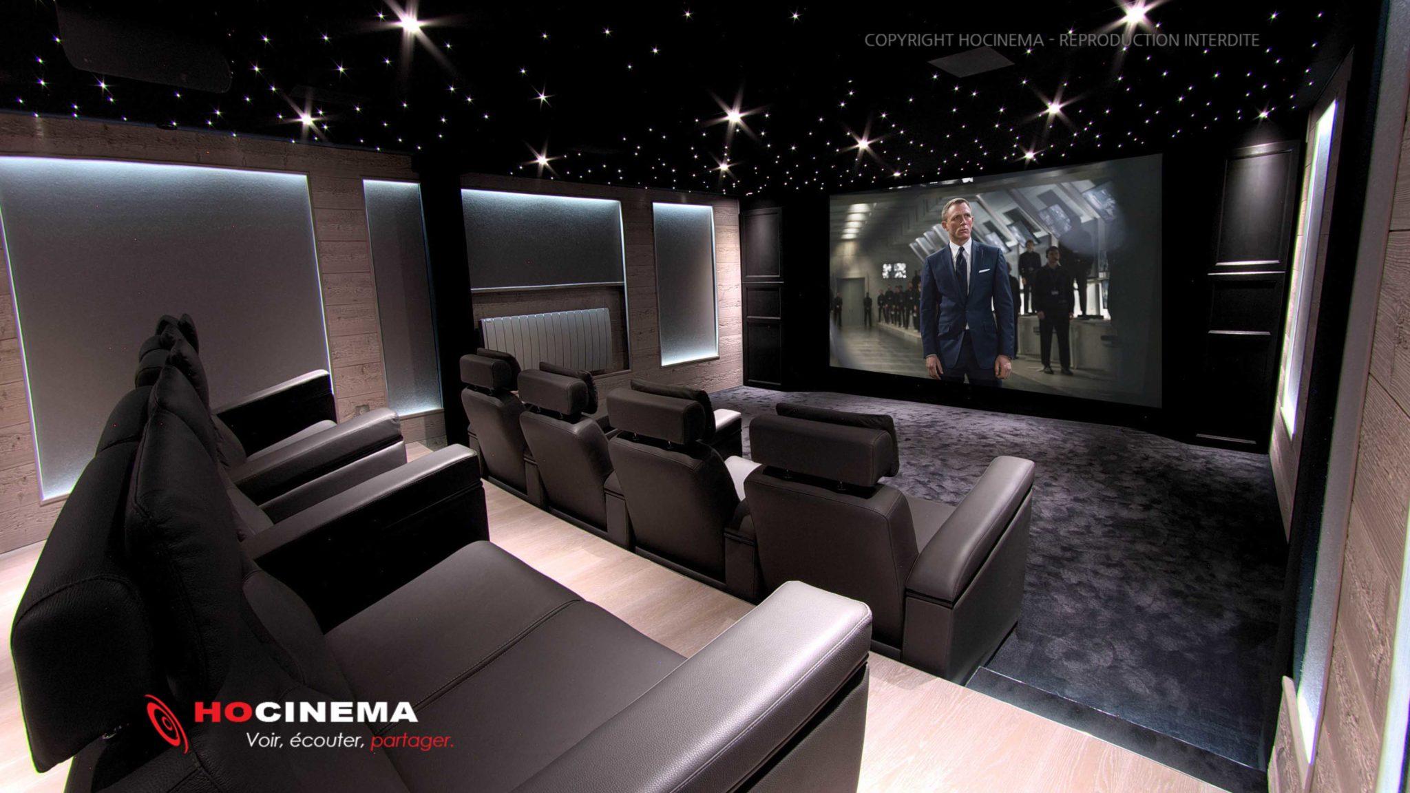 salle cinema maison salle de cinma maison with salle cinema maison ralisation duune salle de. Black Bedroom Furniture Sets. Home Design Ideas
