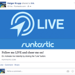 Runtastic sharing on Facebook