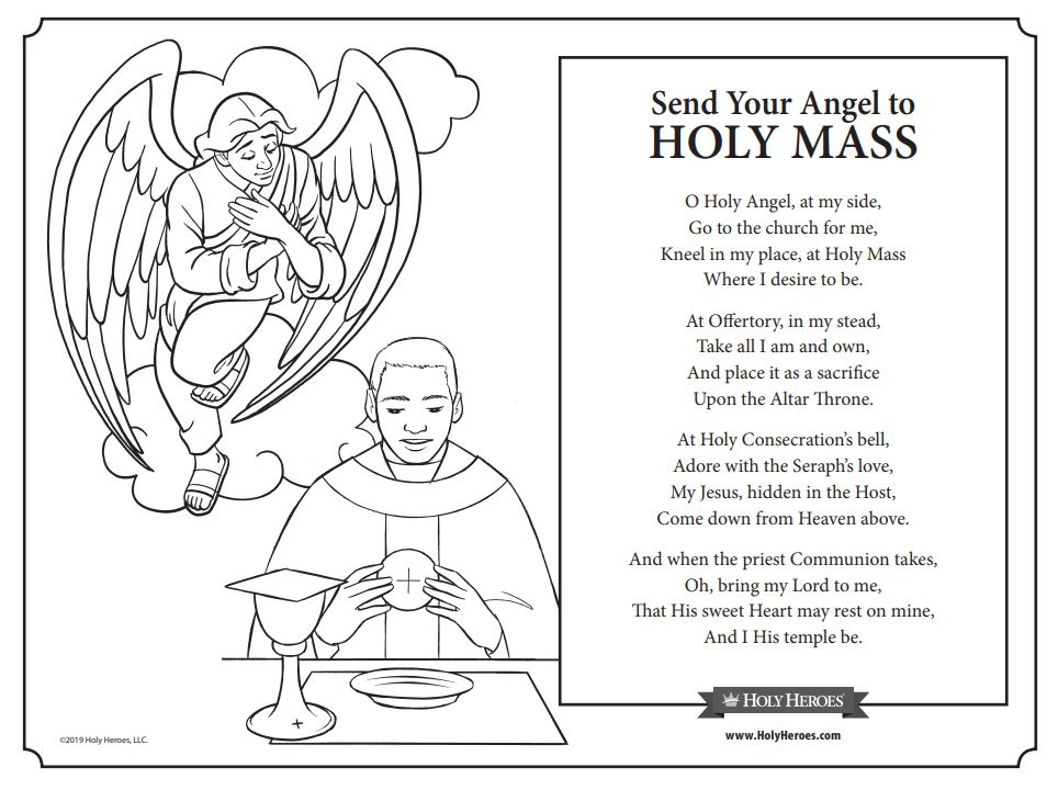 Have You Sent Your Angel to Mass? (UPDATED: 2 free