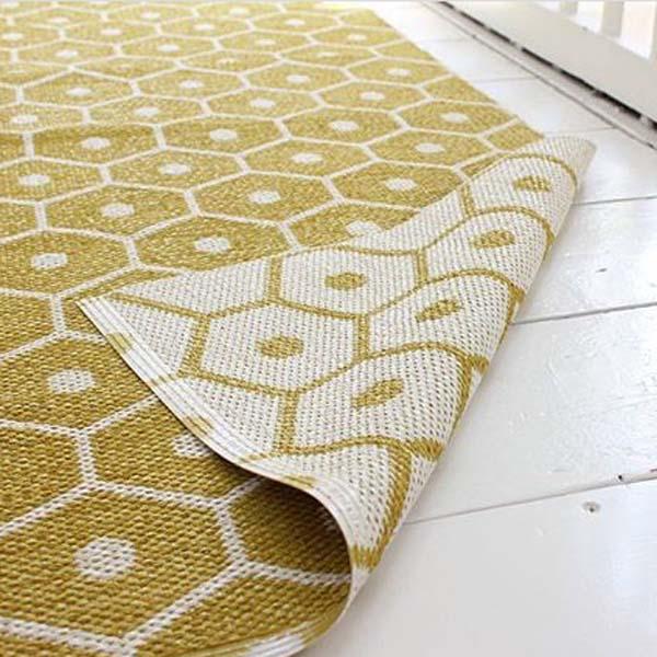 Yellow Interiors Pappelina Honey Mustard Reversible