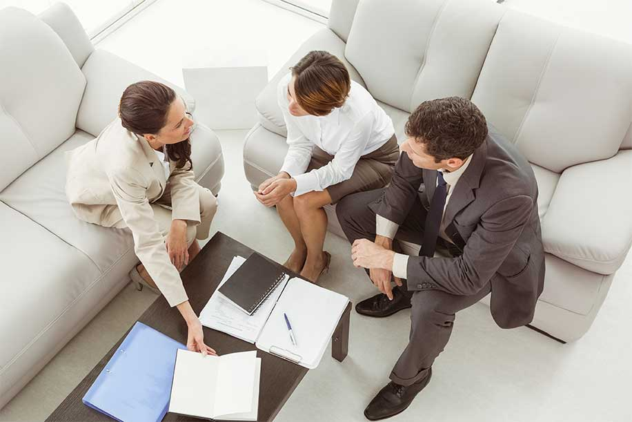 discussing details with an Apex local agent