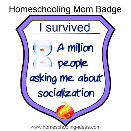 #Homeschooling Survival Badge - Socialization. www.homeschooling-ideas.com