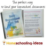 The perfect way to bind your homeschool documents