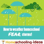 How to weather homeschool fear storms - surviving worry and doubt.