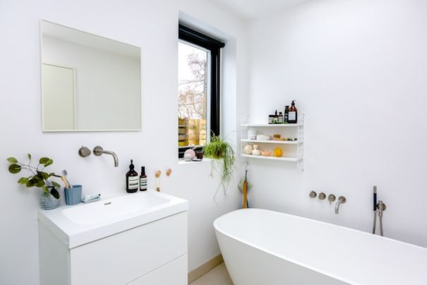 bathroom clean after the holiday season
