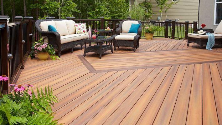 composite deck material backyard deck