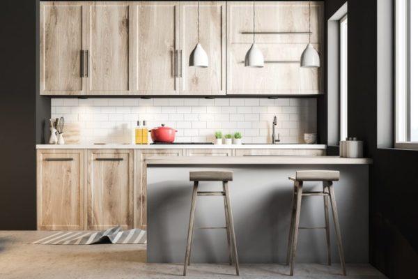 basement kitchen cabinets