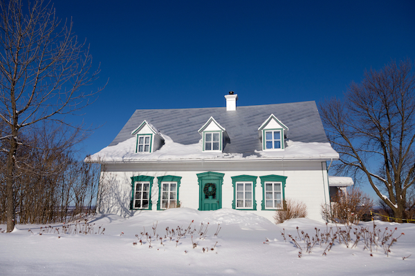 gable roof in snow best roofing materials canadian winters