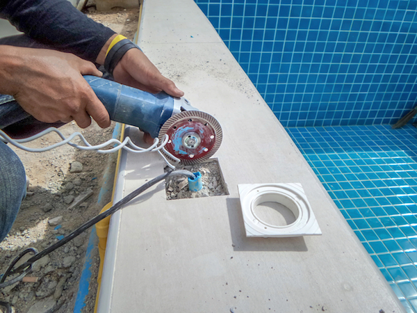 process installing in-ground pool