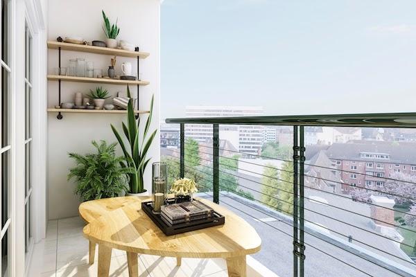 plants on balcony