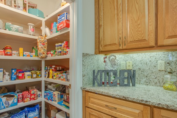side view of pantry in kitchen