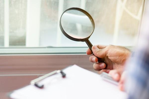 home inspector doing an energy audit
