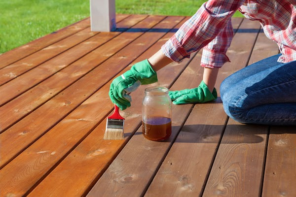 pro staining porch