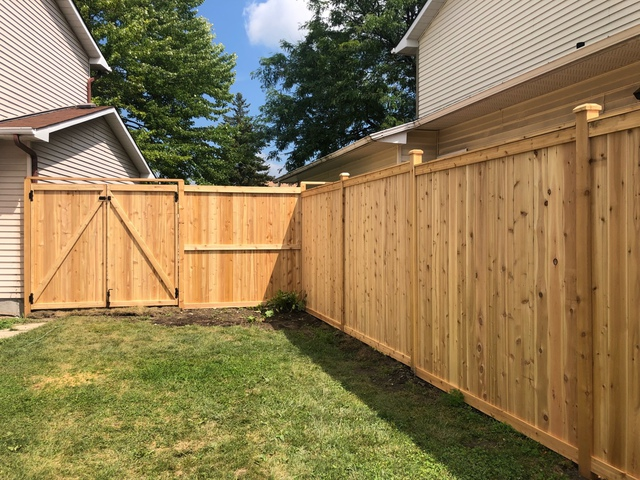 new backyard fence replacement