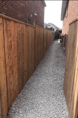 side fence installation