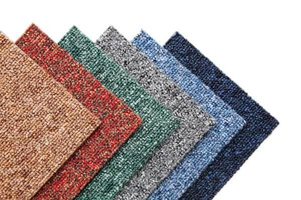 multiple samples of carpet tiles