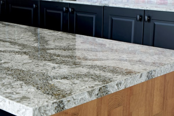 close up of quartz countertops