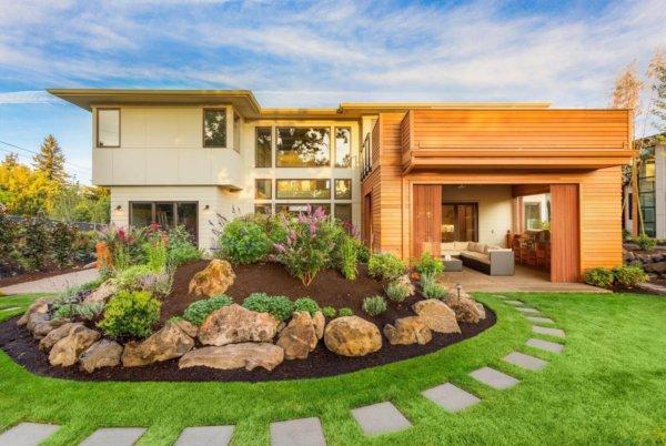 modern home landscaping