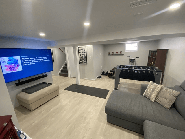 basement finished renovation