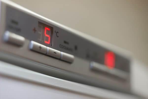 close up on faulty fridge compressor