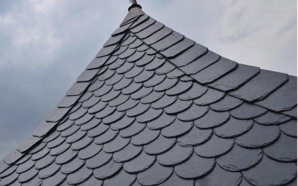 Beautiful detailed slate roof