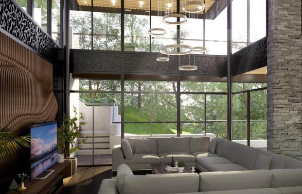 living room designed by architect