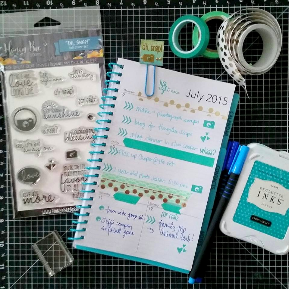 Stamping Saturday: Inchies Turned Planner Clips
