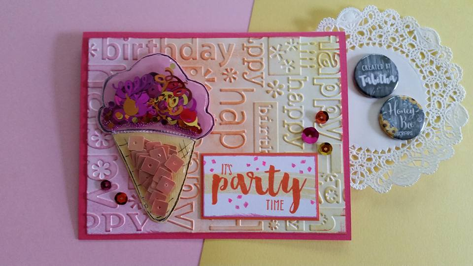 It's Party Time!  Birthday Ice Cream Shaker Card