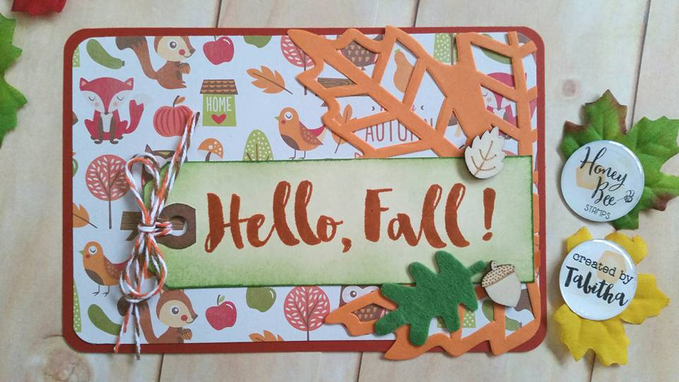 Hello, Fall!  Project Life Card