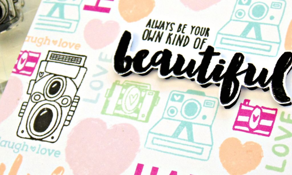 Fun Stamped Background