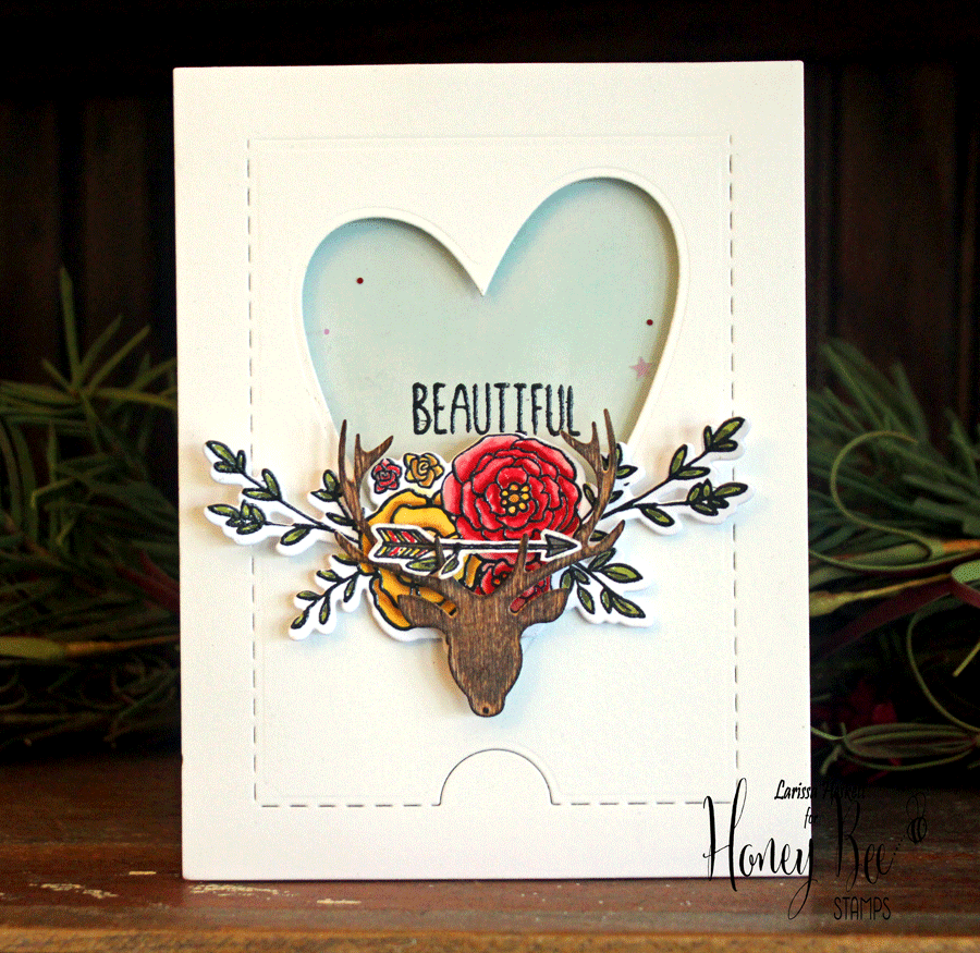 Beautiful Stag Shaker Card w/ Ellen Hutson!!