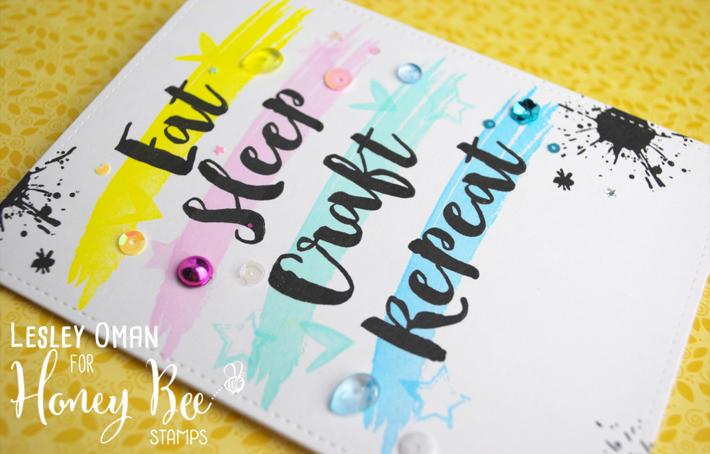 Eat Sleep Craft Repeat  – Featuring The Brush Grunge Alpha