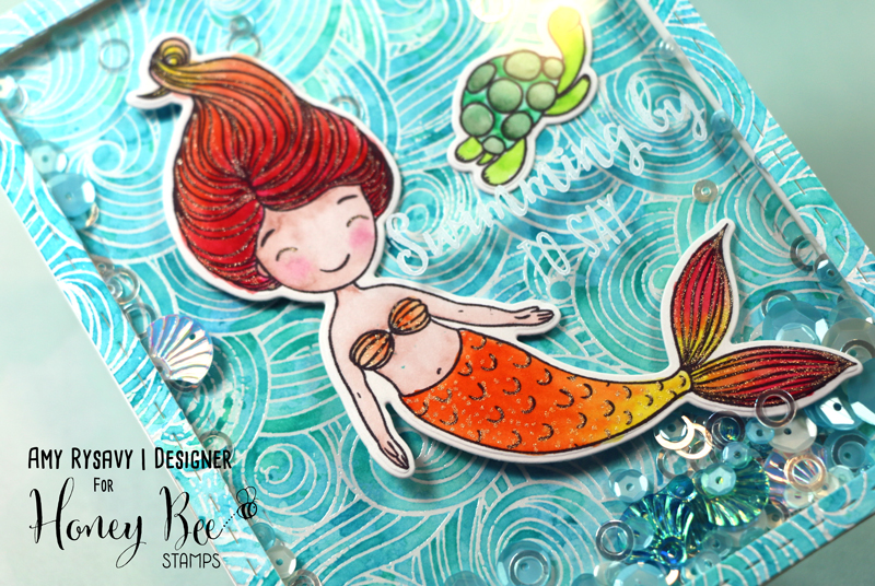 Floating Mermaid Shaker Card by Amy Rysavy