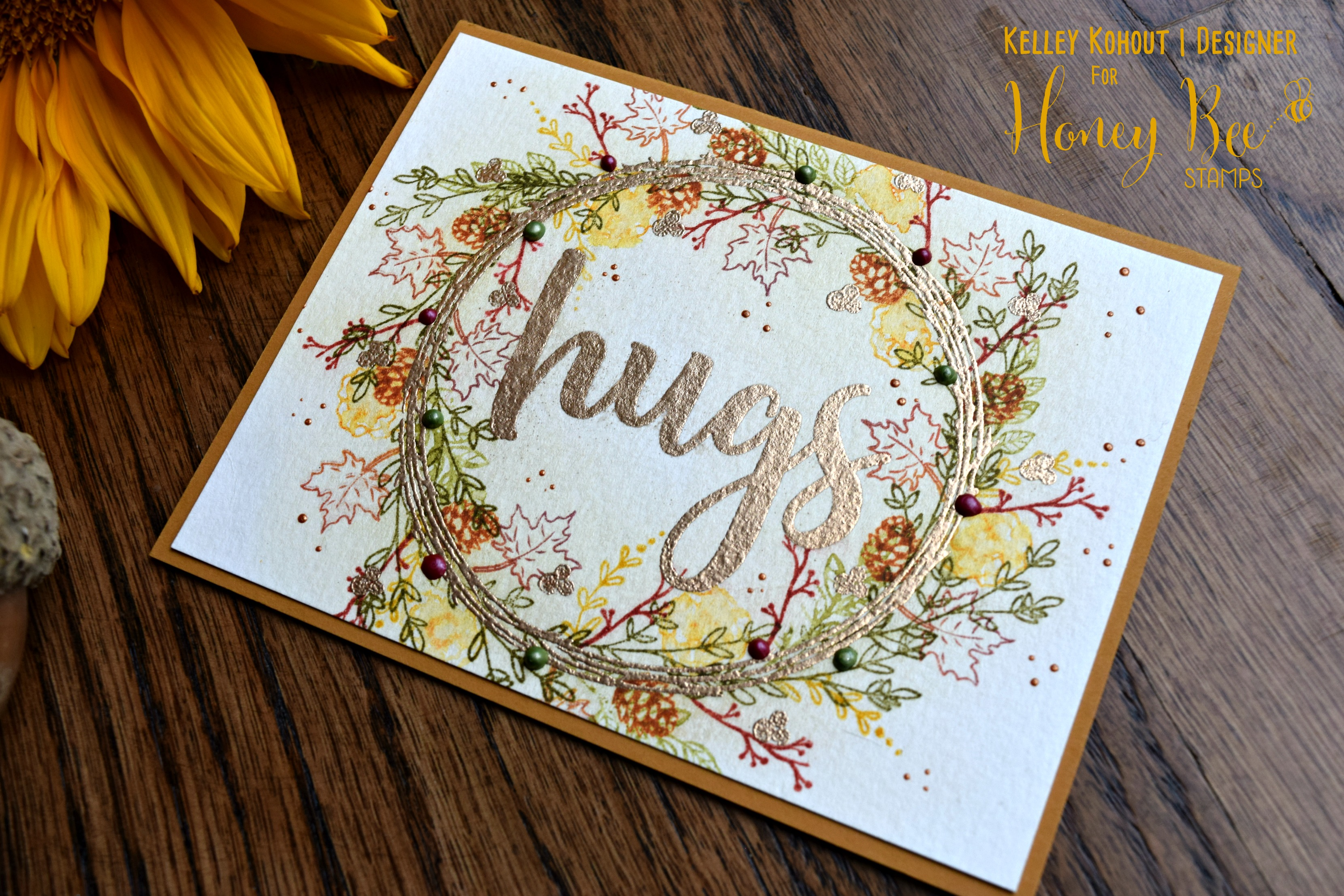 Rustic Fall Wreath: Featuring the Country Wreath Stamp Set!