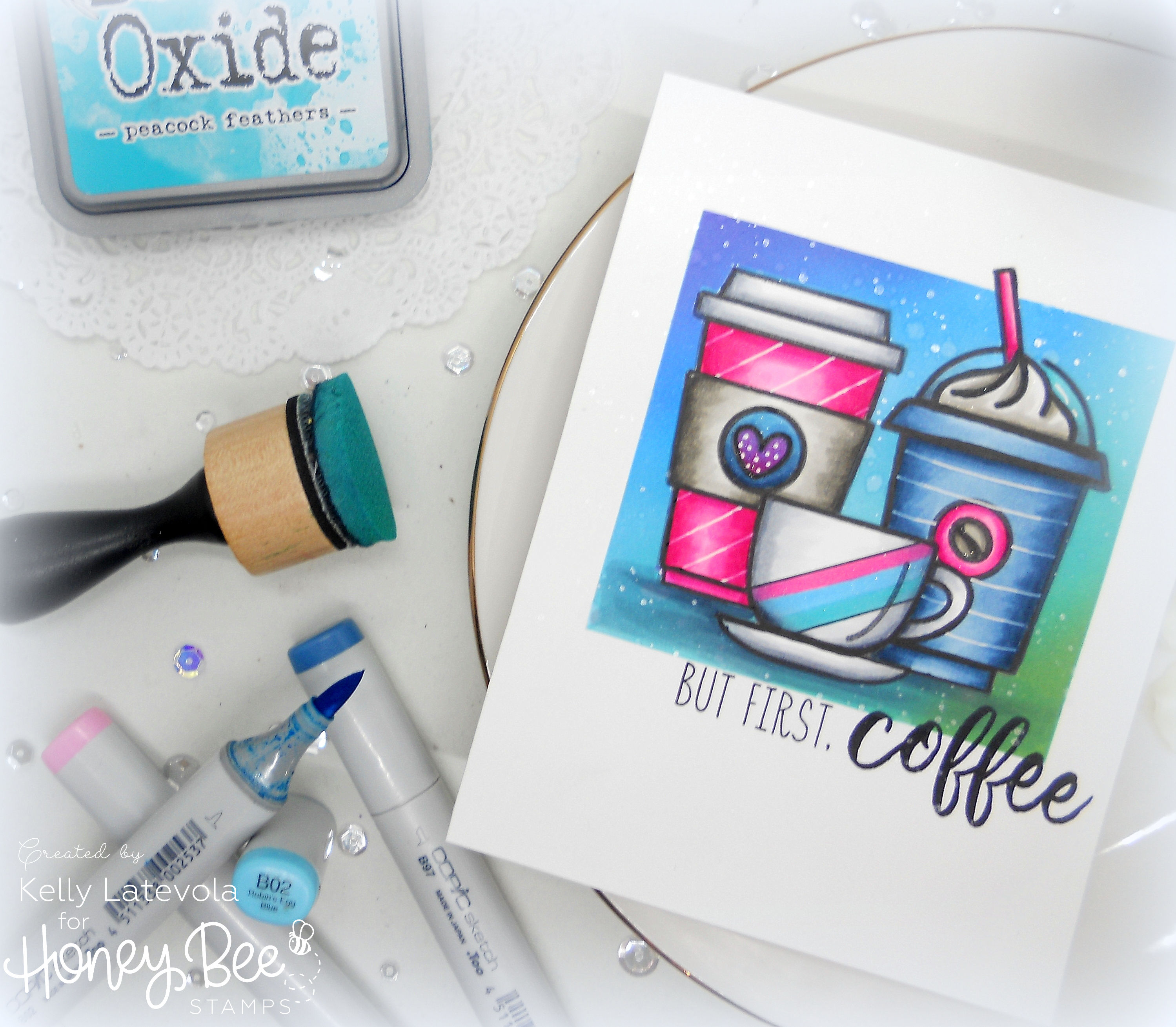 But First, Coffee: One Layer Card with Kelly Latevola