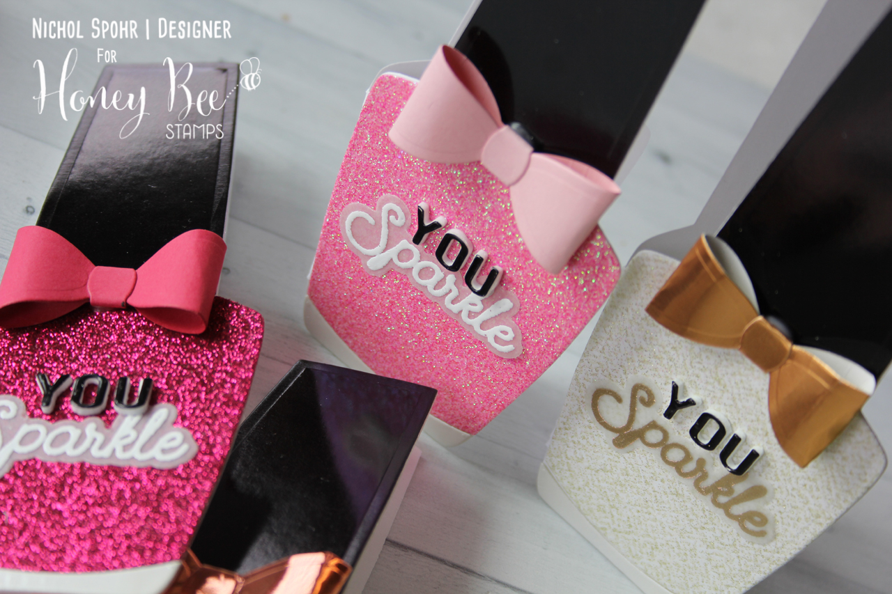 Nail Bottle Polish Shaped Cards (Set of 4)