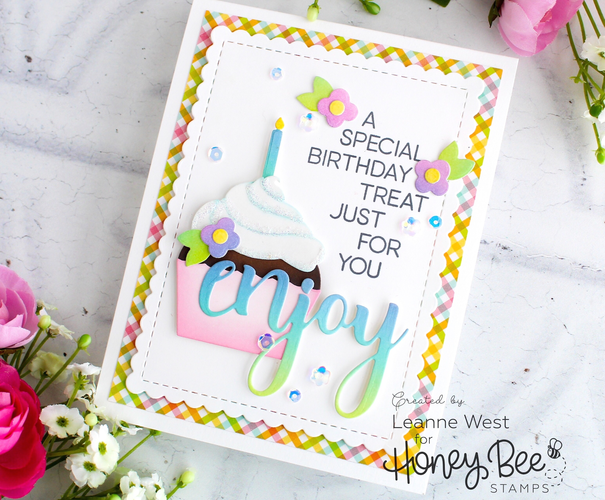 Cupcake Builder Birthday Card